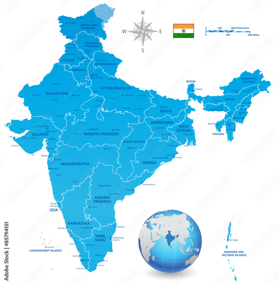 India map set 3d globe wall sticker wall stickers india map set 3d globe wall sticker gumiabroncs Image collections