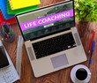 Постер, плакат: Life Coaching Concept on Modern Laptop Screen