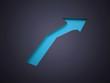 Blue arrow business concept