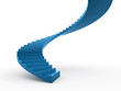 Blue spiral stairs concept rendered
