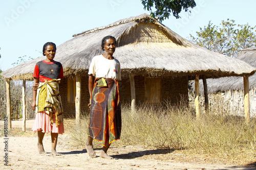 African women in Malagasy willage, Madagascar