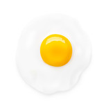 Fried egg isolated on white background. Vector illustration