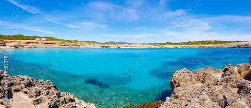 Panorama sea lagoon in Mallorca