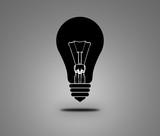 Black light bulb poster