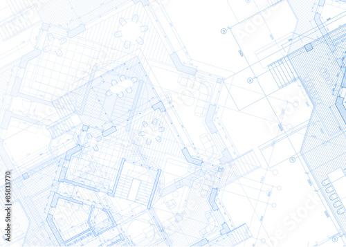 projekt architektury - plan / ilustracji wektorowych