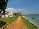 Road to lighthouse at Fort Galle, Sri-Lanka