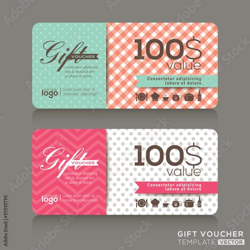 cute gift voucher certificate coupon design template buy photos