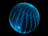 Naklejka blue sphere and black background