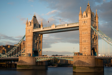 Tower Bridge in the thames at sunset