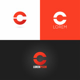 Fototapety letter C logo design icon set background