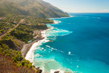 Fototapeta Aerial view of the coastline near Maratea (southern Italy)