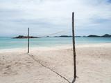 Fototapeta Beach volley ball court in the island