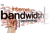 Bandwidth word cloud poster