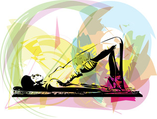 Yoga woman illustration