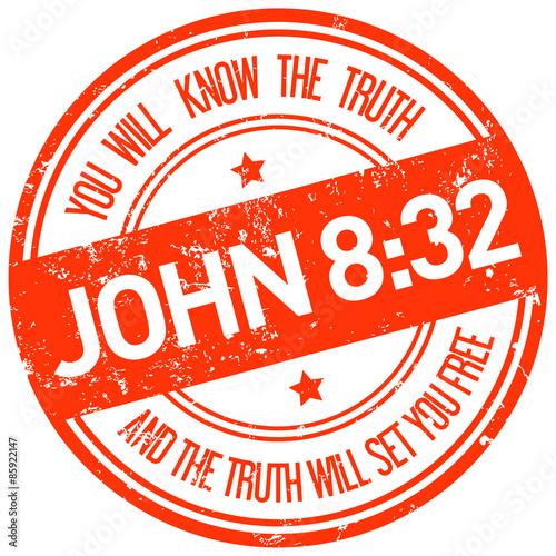 Zdjęcia na płótnie, fototapety, obrazy : holy bible john 8:32