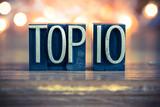 Fototapety Top 10 Concept Metal Letterpress Type