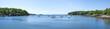 Rockport harbor panoramic