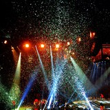 concert lights and confetti