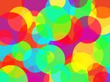 Fototapeta Abstract rainbow colors circles background