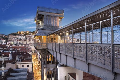 Juliste Ascenseur de Santa Justa Lisbonne Portugal