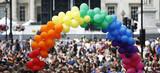 Rainbow flag in London