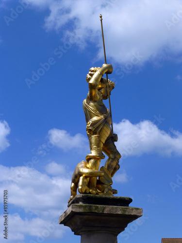Leinwanddruck Bild Marktbrunnen in Eisenach