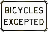 Bicycles Excepted in Australia poster