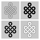 The Endless Knot. Sacred symbol of the rebirth
