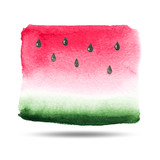 Vector watercolor background. The texture of the watermelon. - 85991120