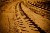 Fototapety Tire tracks on the sand
