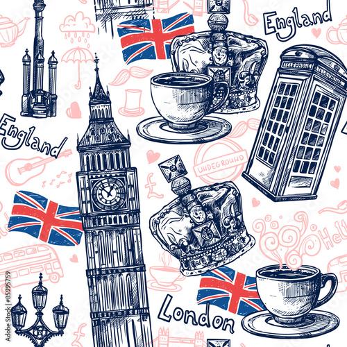 Tapeta London Seamless Pattern
