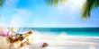 Obrazy na płótnie, fototapety, zdjęcia, fotoobrazy drukowane : art honeymoon party on the tropical beach