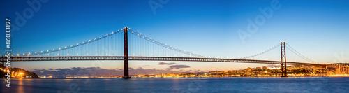 fototapeta na ścianę Lizbona Bridge Panorama