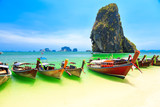 Longboats on Railay beach