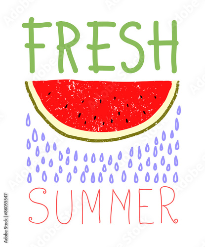 Fresh summer card design. vector illustration - 86055547