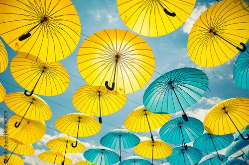 Poster Background colorful umbrella