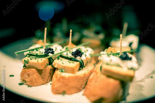 Poster Caviar tapas Barca