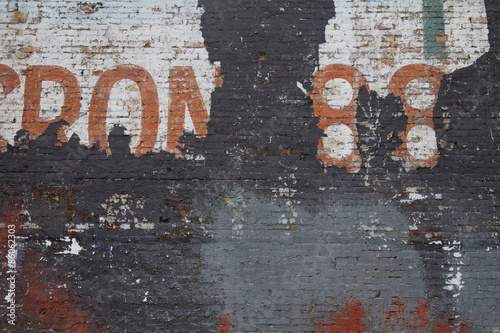 Poster Distressed brick wall