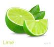 lime slice illustration isolated on white background - 86074774