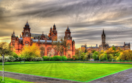 obraz PCV Kelvingrove Museum and Glasgow University - Scotland