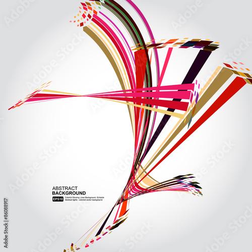 Foto op Canvas Bloemen vrouw Abstract technology lines vector background