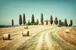 Tuscany country house - Painting of vintage photo