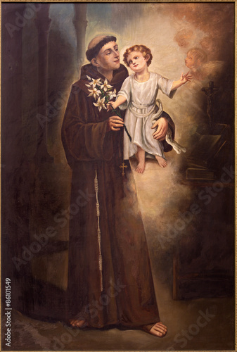 Plakat Tel Aviv - Saint Anthony of Padua from st. Peters church