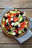 Fototapeta Greek salad with feta cheese