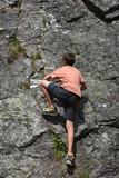 arrampicata alpinismo bambino rocce pietre ragazzo