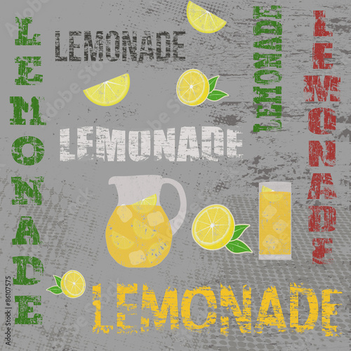 Lemonade retro poster - 86107575