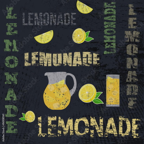 Lemonade retro poster - 86108561