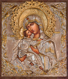 Jerusalem - Madonna in Russian orthodox Church of Mary of Magdalene - 86114526