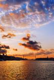 Hanging Bridge of Vizcaya at sunset poster