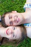 Fototapety Happy couple lying on a meadow